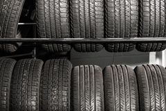 Tires Rack Tire Sales stock photography