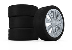Tires and rims Royalty Free Stock Photography
