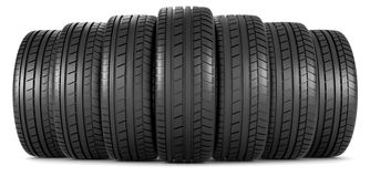 Tires in a row Stock Image