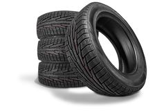 Tires. Rubber black tyres car tyre car tire isolated royalty free stock photos