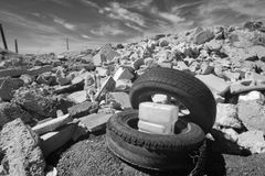 Tires and Rubble Infrared Stock Photos