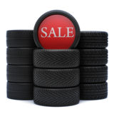 Tires sale Stock Photo