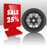 Tires sale Royalty Free Stock Photo