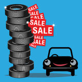 Tires sale Royalty Free Stock Photos