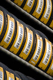 Tires for sale in Korea Royalty Free Stock Image