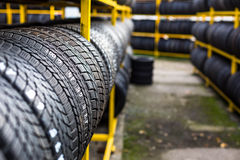 Tires for sale Royalty Free Stock Image