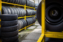 Tires for sale Royalty Free Stock Photography