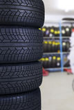 Tires in the spare parts store Stock Photography