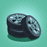 Tires spare wheel Royalty Free Stock Image