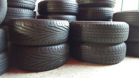 Tires stack Royalty Free Stock Photography