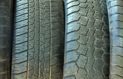 Tires stacked to each other Royalty Free Stock Photos