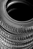 Tires stacked up Royalty Free Stock Images