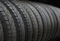 Tires at stock Royalty Free Stock Images