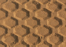 Tires tracks on sand. Royalty Free Stock Image