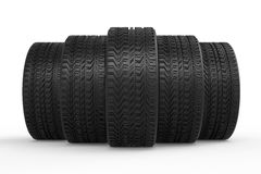 Tires with tread pattern Royalty Free Stock Photos