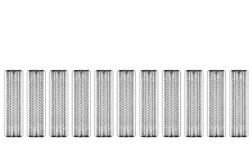 Tires and Treads. Line art of tire treads on a row of tires Stock Photography