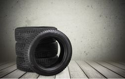 Tires. Truck Wheel Pick-up Truck Isolated Rubber Stack stock photos