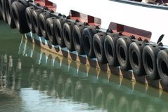 Tires on tug boat. Portsmouth. England Stock Photos