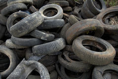 Tires two. A Heap of dumped car tires Stock Photo