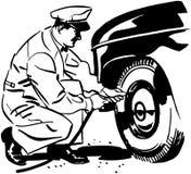 Tires Under Pressure Stock Images