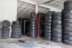 Tires warehouse Stock Photography