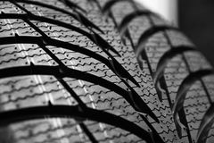 Tires on wheels for car Royalty Free Stock Image