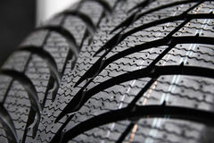 Tires on wheels for car Royalty Free Stock Images