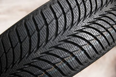 Tires on wheels for car Royalty Free Stock Photos
