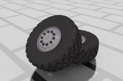 Tires, wheels Stock Photo