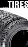 Tires on the white Stock Photography