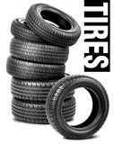 Tires on the white background Royalty Free Stock Photos