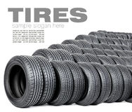 Tires on the white background Royalty Free Stock Image