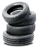 Tires on the white background Stock Images