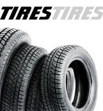 Tires on the white background Stock Photo