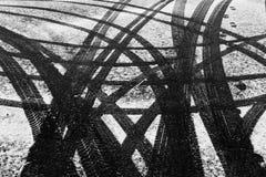 Tiretracks в снеге Стоковое Изображение RF