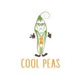 Tirette dans le concept de végétarien de lunettes de soleil Photo libre de droits