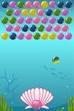 Tireur de bulle sous le jeu de mer Image stock