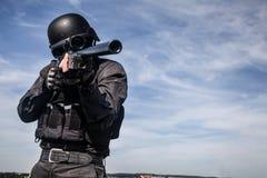 Tireur isolé de police de COUP Photo stock