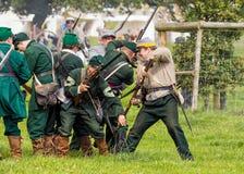 Tireurs d'élite d'armée des syndicats de la guerre civile américaine Photographie stock libre de droits