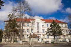 Tirgu Mures building. City hospital in Tirgu mures Stock Photos