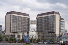 Tirgu Mures -mures-sediul ANAF - publice Mures van Administratia Finantelor Stock Foto