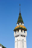 Tirgu Mures tower. Against blue sky Stock Photo
