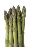 Tiri dell'asparago isolati su bianco fotografia stock