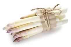 Tiri di asparago bianco fotografie stock libere da diritti