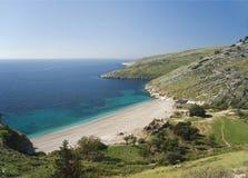 Tiri il litorale in secco ionico Europa dell'Albania Immagine Stock