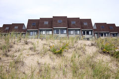 Tiri l'hotel in secco in dune Fotografie Stock Libere da Diritti