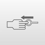 Tiri l'icona piana del perno Immagine Stock Libera da Diritti