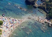 Tiri la spiaggia in secco di raduno Fotografia Stock Libera da Diritti