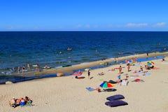 Tiri le feste in secco sulle rive sabbiose del Mar Baltico Fotografie Stock Libere da Diritti