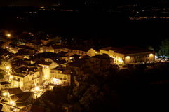 Tiriolo of Night. Tiriolo the land of two seas night view with the valley of the Ionic coast in the province of Catanzaro Calabria Italy August 2014 Royalty Free Stock Image